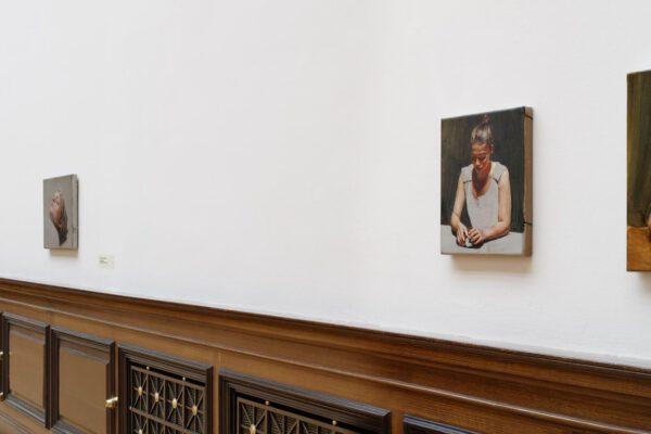 Michaël Borremans The Duck, Galerie Rudolfinum. Photo: Martin Polák
